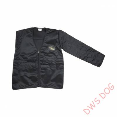 Védőkabát cserélhető karrésszel / könnyű - fekete, méret 56