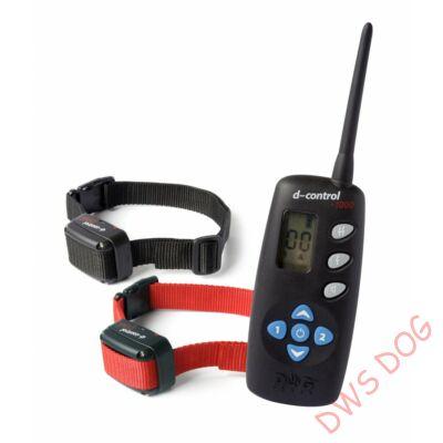 Dog Trace d-control 1002 (1000 m), 2 nyakörves elektromos kutyakiképző nyakörv