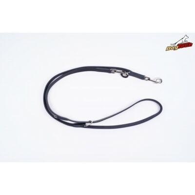 DogTech - Fekete, 20 mm/200 cm, állítható, bőr kiképzőpóráz