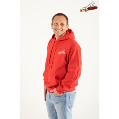 DogTech - piros, XL-méretű, unisex pulóver