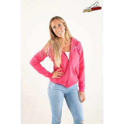 DogTech - Pink, női cipzáras pulóver