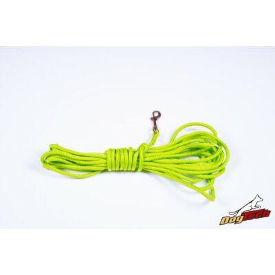 DogTech - Neonzöld, 7 mm/10 m, fogós, nyomkövető póráz
