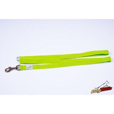 DogTech - Fogós, zöld, 25 mm/120 cm, textil kutyapóráz
