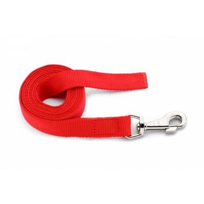 DogTech - Fogó nélküli, piros, 25 mm/200 cm, textil kutyapóráz