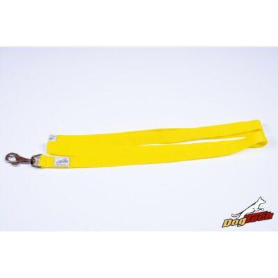 DogTech - Fogó nélküli, sárga, 25 mm/200 cm, textil kutyapóráz