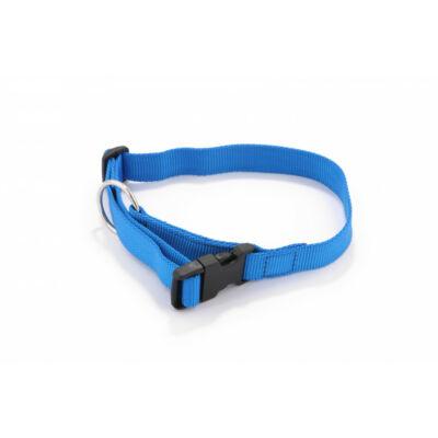 DogTech - kék, müanyag csattos, 25 mm szélességű, textil kutyanyakörv
