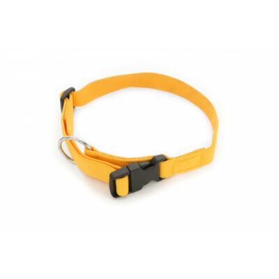 DogTech - sárga, müanyag csattos, 25 mm szélességű, textil kutyanyakörv