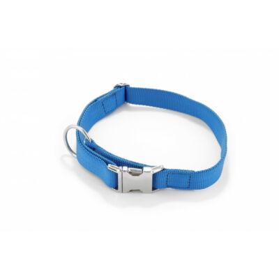 DogTech - kék, fém csattos, 25 mm szélességű,  textil kutyanyakörv