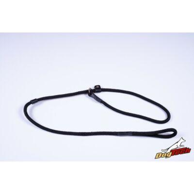 DogTech - Fekete, 10 mm átm./150 cm, textil retriverpóráz