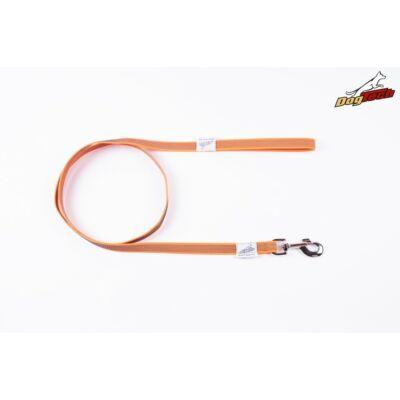 DogTech - Fogós, narancssárga, 20 mm/150 cm, gumis textil kutyapóráz