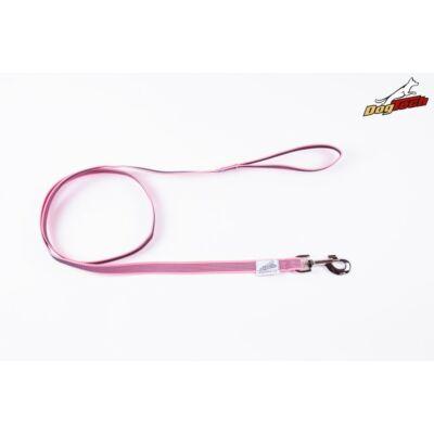 DogTech - Fogós, pink, 20 mm/2 m, gumis textil kutyapóráz