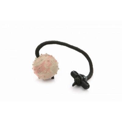 DogTech - 30 cm-es zsinór, gumi T-fogós, tömör, 5,5 cm apportlabda