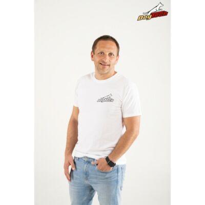 DogTech - Fehér, XXL-méretű, férfi póló