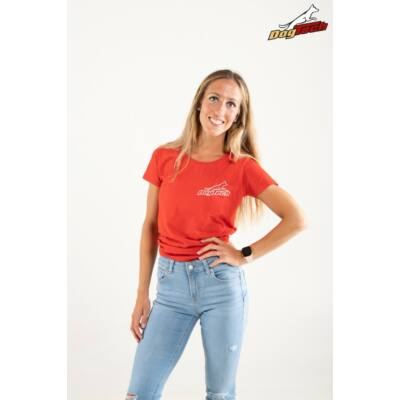 DogTech - Piros, XS-méretű, női póló
