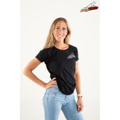 DogTech - Fekete, L-méretű, női póló