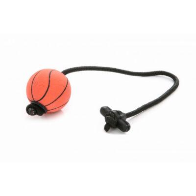 DogTech - 50 cm-es zsinór, gumi T-fogós, szivacslabda
