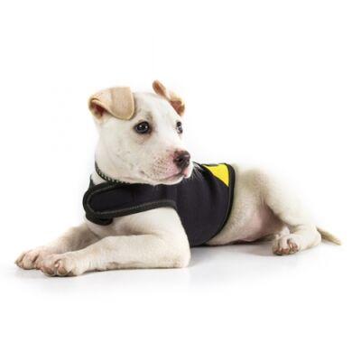 Baby 1 méretű, fekete-sárga Neoprén IDC kutyaruha