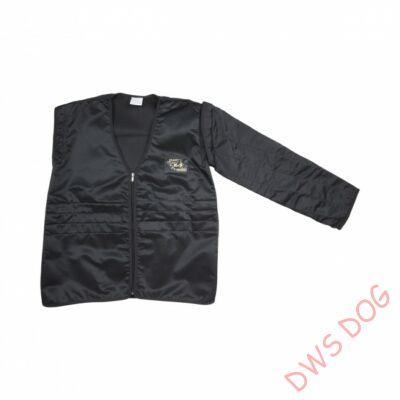 Védőkabát cserélhető karrésszel / könnyű - fekete, méret 60