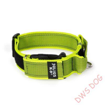 K9 textil fogós nyakörv feliratmezővel - 50 mm széles, színe neon