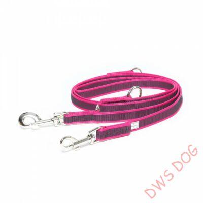C&G pink, 20 mm széles, 2,2m, állítható kutyapóráz