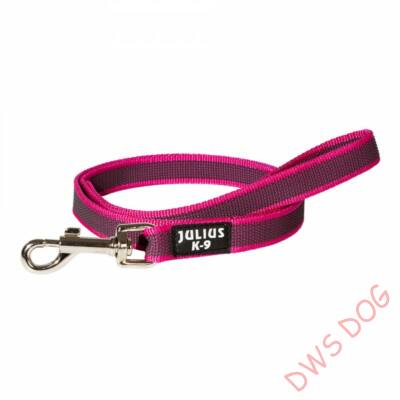 C&G pink, 14 mm széles, 1 m, fogós kutyapóráz