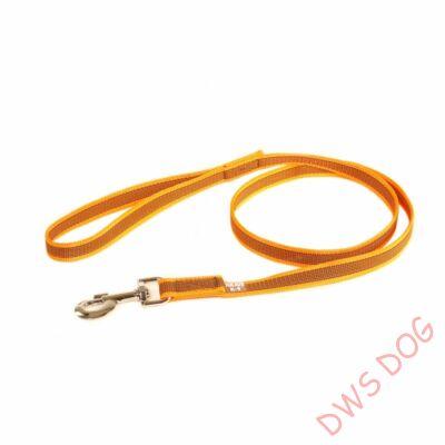 C&G narancs, 20 mm széles, 1,2 m, fogós kutyapóráz