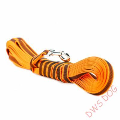 C&G narancs, 20 mm széles, 15 m, fogós kutyapóráz