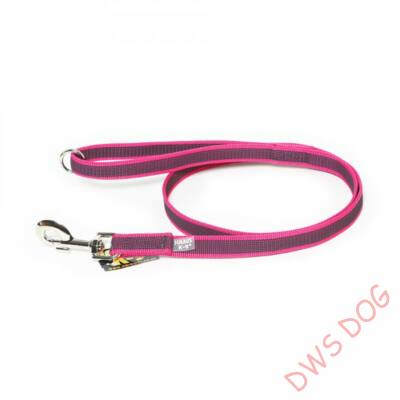C&G pink, 14 mm széles, 2 m, fogós kutyapóráz