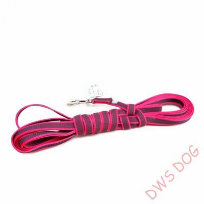 C&G pink, 20 mm széles, 10 m, fogós kutyapóráz