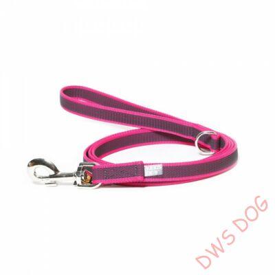 C&G pink, 14 mm széles, 3 m, fogós kutyapóráz