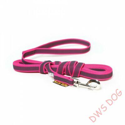 C&G pink, 14 mm széles, 10 m, fogós kutyapóráz