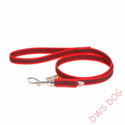C&G piros, 20 mm széles, 1,2 m, fogós kutyapóráz