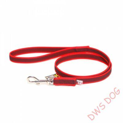 C&G piros, 20 mm széles, 1 m, fogós kutyapóráz