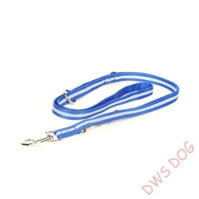 IDC csőheveder kék, 19 mm széles,  2,2 m hosszú, állítható kutyapóráz
