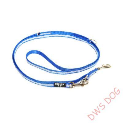 IDC csőheveder kék, 14 mm széles,  2,2 m hosszú, állítható kutyapóráz