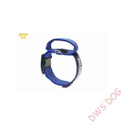 K9 textil fogós nyakörv feliratmezővel - 40 mm széles, színe kék