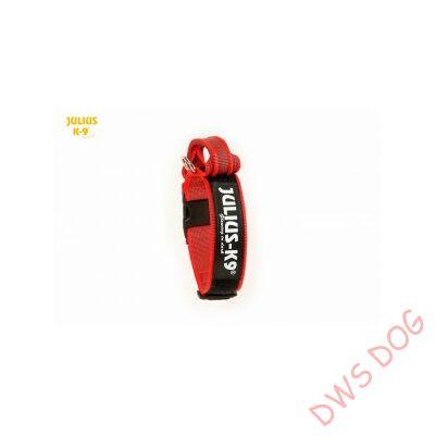 K9 textil fogós nyakörv feliratmezővel - 50 mm széles, színe piros