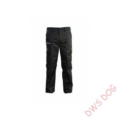 K9 pamut nadrág, fekete-bézs, cipzározható szárral - impregnált, - méret 62