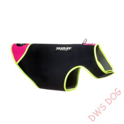 S-es méretű, fekete-pink Neoprén IDC kutyaruha