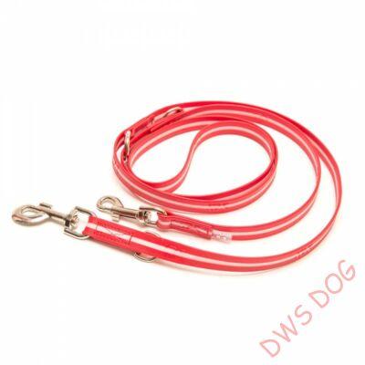 IDC LUMINO piros, 2,2 m hosszú, állítható kutyapóráz
