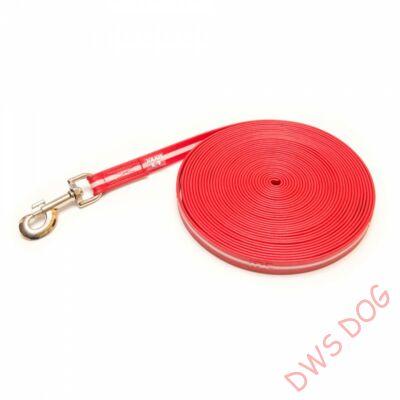 IDC LUMINO piros, 10 m hosszú, fogó nélküli kutyapóráz