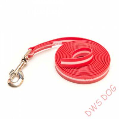 IDC LUMINO piros, 7,5 m hosszú, fogó nélküli kutyapóráz