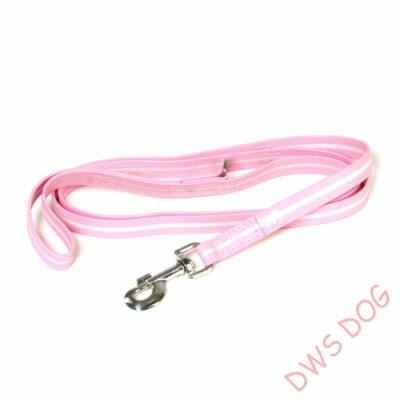 IDC LUMINO pink, 1,8 m hosszú, karikával, fogós kutyapóráz