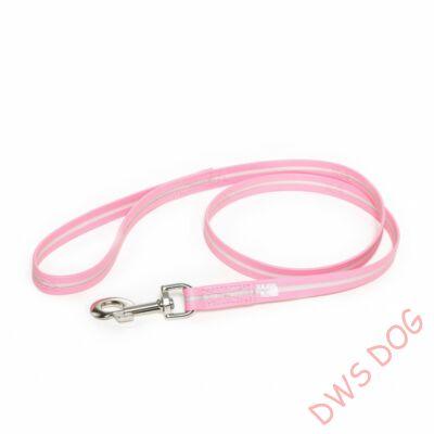 IDC LUMINO pink, 1 m hosszú, fogós kutyapóráz