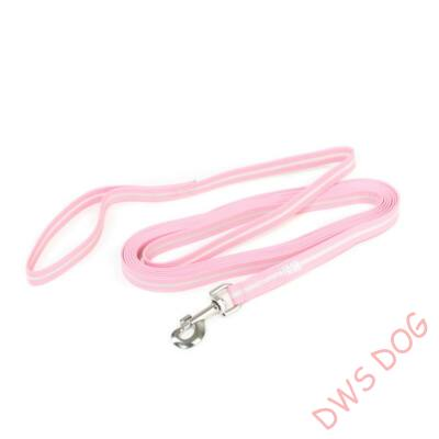 IDC LUMINO pink, 5 m hosszú, fogós kutyapóráz