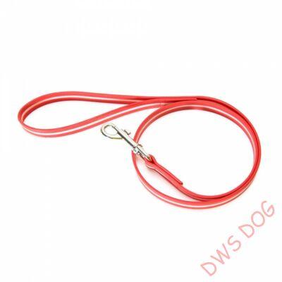 IDC LUMINO piros, 1,2 m hosszú, fogós kutyapóráz