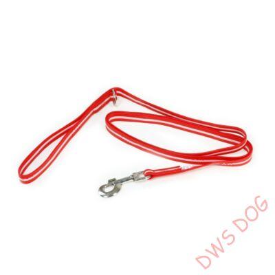 IDC LUMINO piros, 1,8 m hosszú, karikával, fogós kutyapóráz