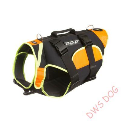 XL-es fekete-UV narancs IDC Multifunkcionális mellény, 3 in1 kutyahám