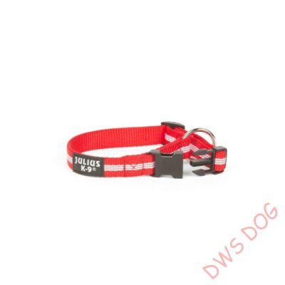 IDC csőheveder, piros, 25 mm széles kutyanyakörv