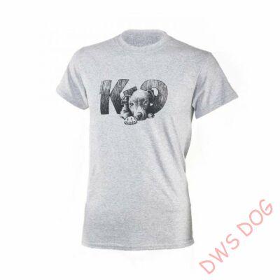 JULIUS-K9 Pitbull, M-méretű, kutyás póló